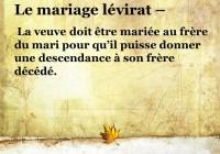 Le Lévirat,  une violence faite à la femme.